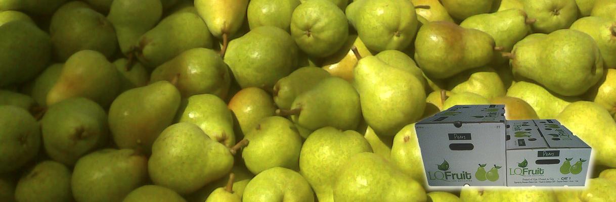 Peras, y su producción temprana